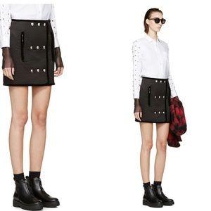 ALEXANDER WANG - Trapunto Metal Button Skirt, Sz 6